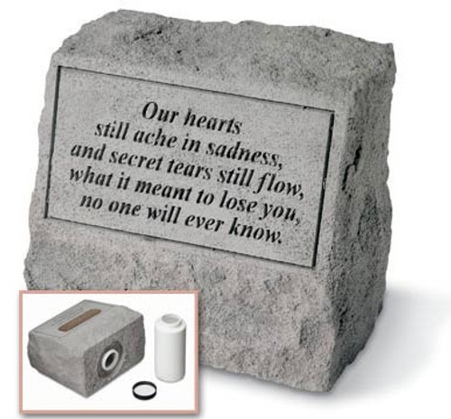 Our Hearts Still Ache Memorial Stone with Urn