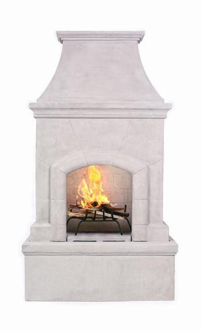 Premium Freestanding Outdoor Fireplace (Stone Grey)