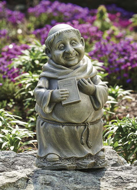 """Pudgy Monk With Book 12""""H"""