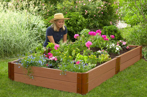 "Tool-Free Classic Raised Garden Bed 4' x 8' x 11"" (2"" profile) Sienna"