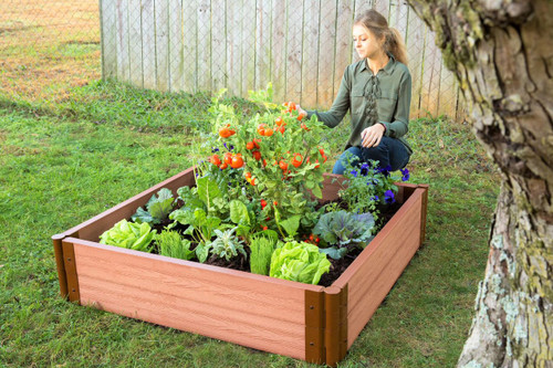 "Tool-Free Classic Raised Garden Bed 4' x 4' x 11"" ( 2"" profile) Sienna"