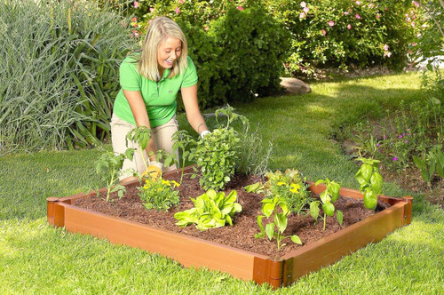 "Tool-Free Classic Raised Garden Bed 4' x 4' x 5.5"" (2"" profile) Sienna"