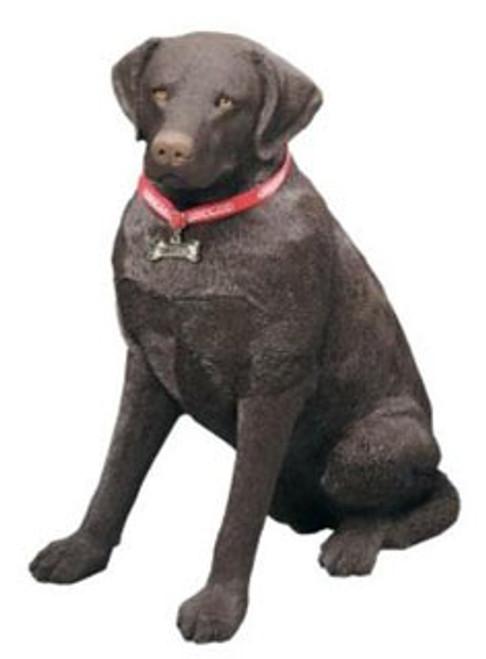 """Sandicast Chocolate Labrador Retriever Statue (27""""H)"""
