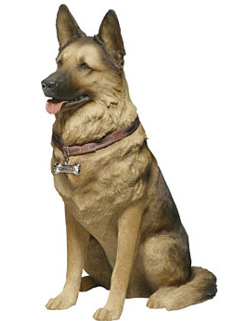 "Sandicast German Shepherd Statue (28""H)"
