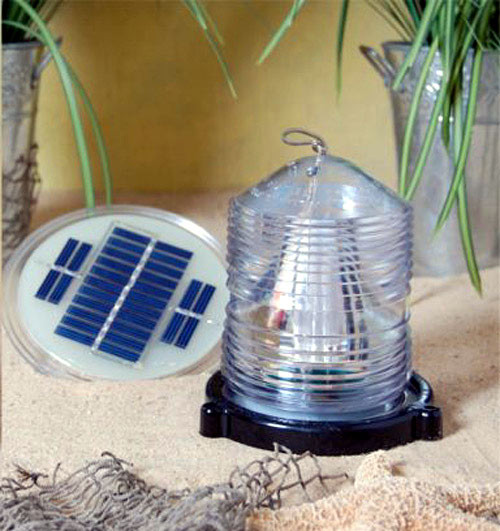Solar Powered Fresnel Blinking Beacon