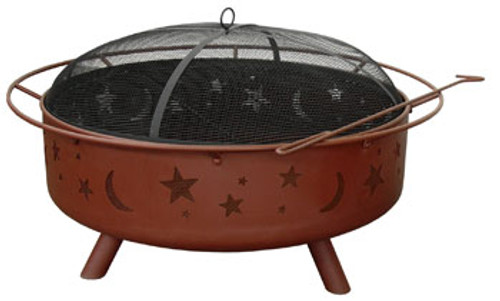 Large Moon & Stars Fire Pit