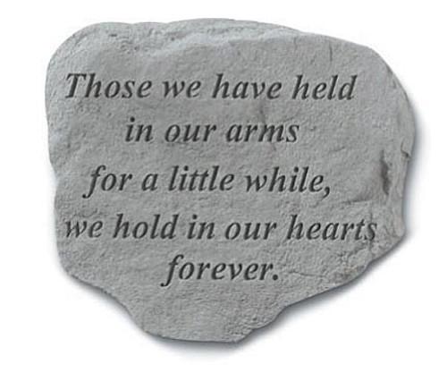 Garden Memorial Stone - Those We Have Held...