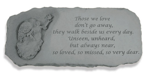 Those We Love Don't Go Away Memorial Bench