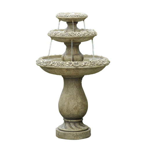 "Two Tiers Outdoor Water Fountain 38""H"