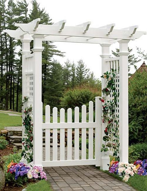Cottage Picket Arbor Gate (Gate Only)