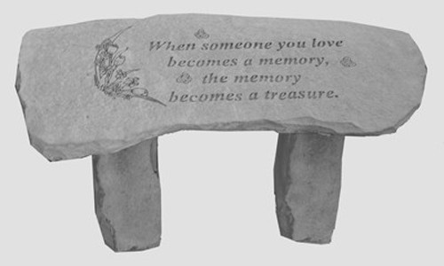 When Someone You Love...Small Memorial Bench