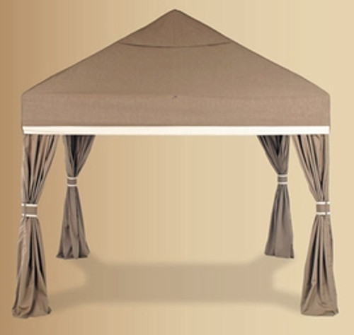 Luxe Square 10' Pavilion with Sidewalls