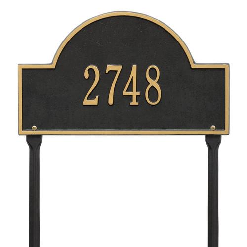Arch Address Lawn Plaque 16L x 9H (1 Line)