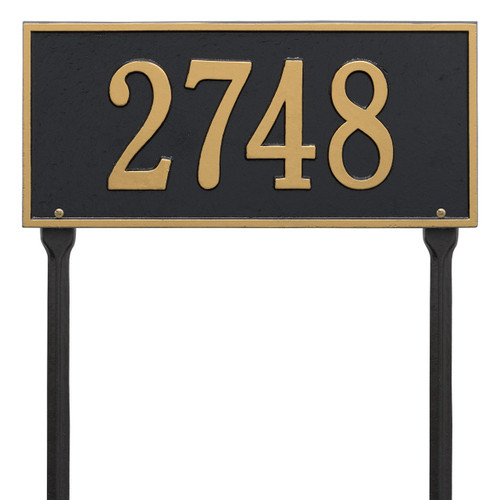 "Hartford Address Lawn Plaque 16""W x 7.25""H (1 Line)"