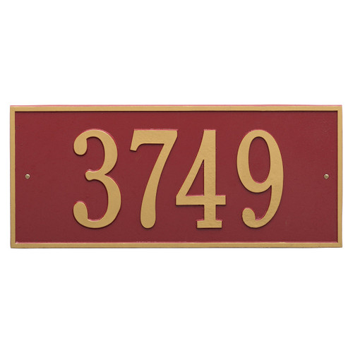 """Hartford Address Plaque 23.25""""W x 10""""H (1 Line) - 7"""" High Numbers"""