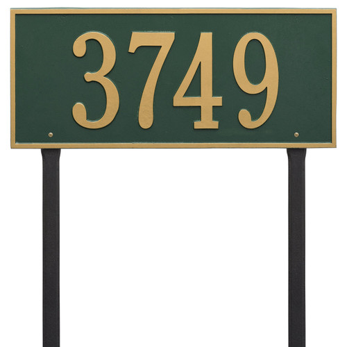 """Hartford Address Lawn Plaque 23.25""""W x 10""""H (1 Line) - 7"""" High Numbers"""