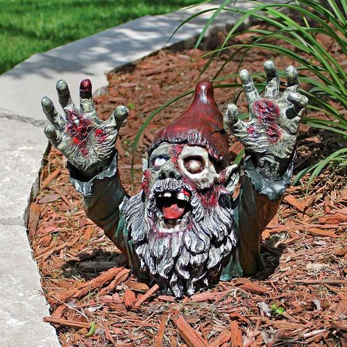 "Zombie Gnombie Garden Statue 11""H"