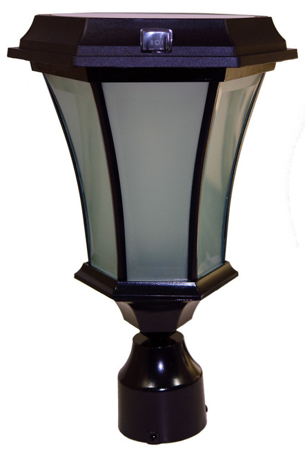 "Solar Goes Green LED Elegant Coach Lamp with 3"" OD Round Fitter"