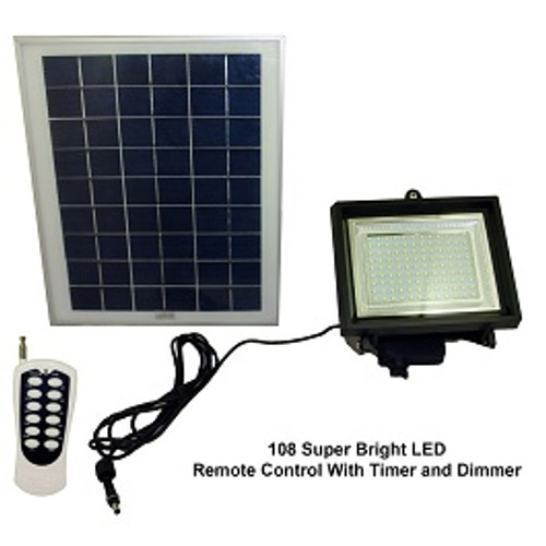 Solar Goes Green LED Solar Flood Light Remote Control with Timer