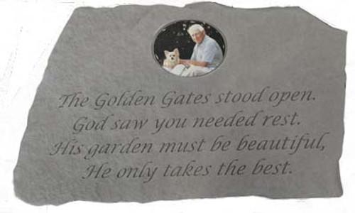 The Golden Gates Stood Open...Photo Memorial Stone