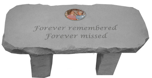 Forever Remembered...Photo Memorial Bench