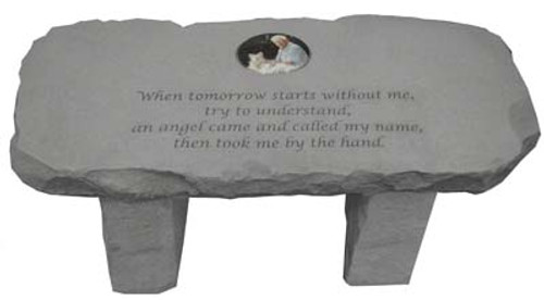When tomorrow...Photo Memorial Bench