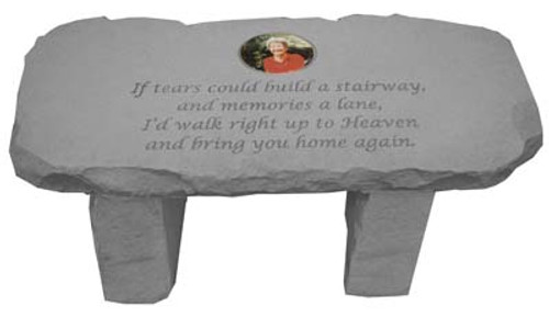 If tears could...Photo Memorial Bench