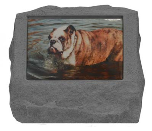 Personalized Photo Headstone with Urn
