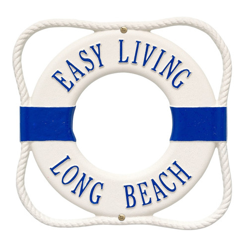"""Life Ring Personalized Plaque 12""""W x 12""""H (2 Lines)"""