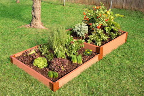 "Tool-Free Classic Raised Garden Bed Terraced 4' x 8' x 11"" (2"" profile) Sienna"