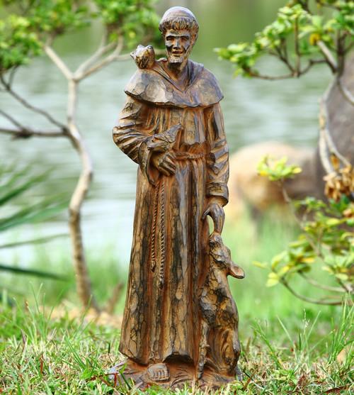 "Saint Francis and Companions Sculpture 29""H"