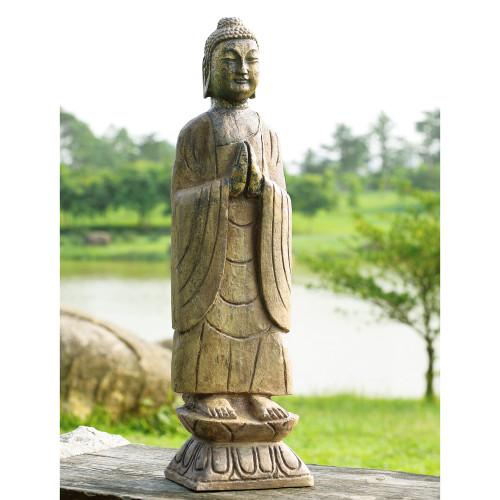 """Meditating Buddha Garden Sculpture 27""""H"""
