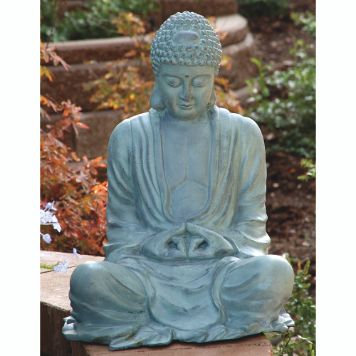 "Large Garden Buddha Sculpture 21""H"