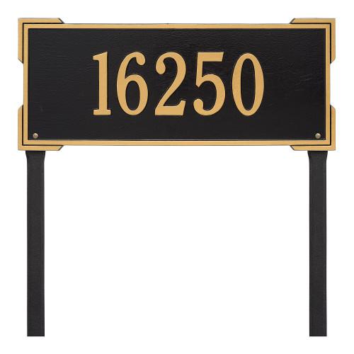 "Roanoke Estate LAWN Address Plaque 24""W X 9""H  (1 Line)"