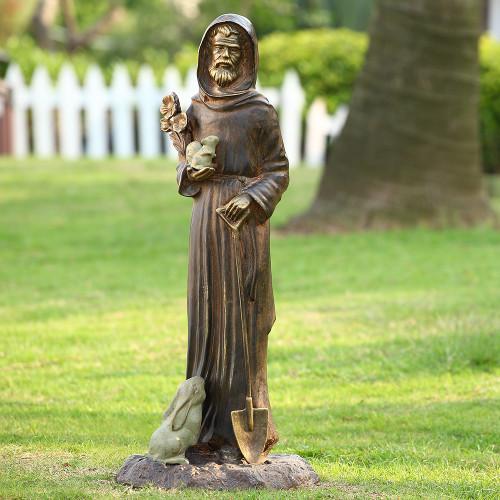 "St. Francis and Friends Aluminum Garden Sculpture 28""H"
