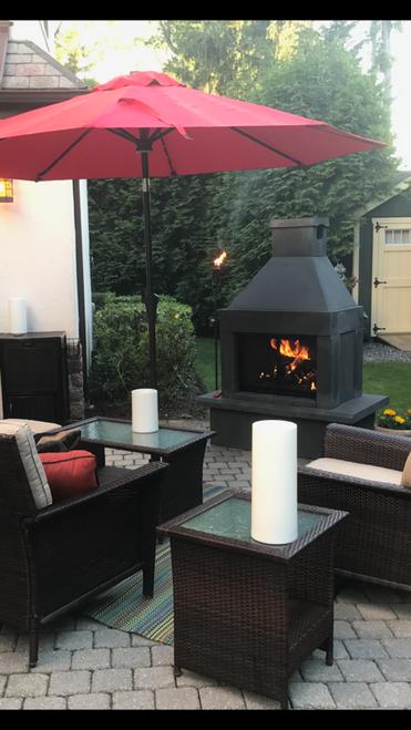 Mirage Stone Outdoor Woodburning Fireplace (Black)