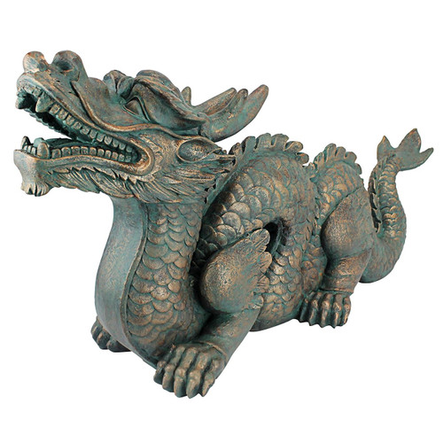 "Larger Asian Dragon of the Great Wall Statue 30""L"