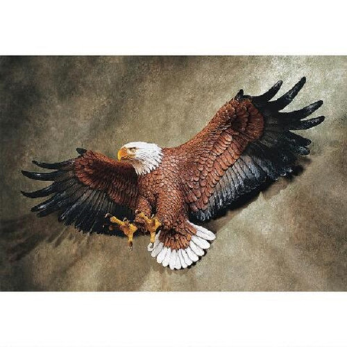 "Freedom's Pride Eagle Wall Sculpture 12""H"