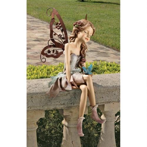 "Fannie The Fairy Sitting Statue 13""H"