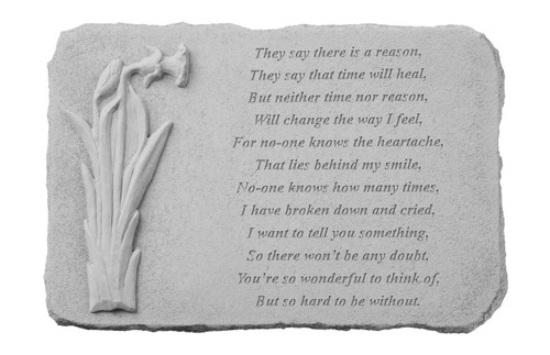 They say there is a reason...w/Daffodil Memorial Stone
