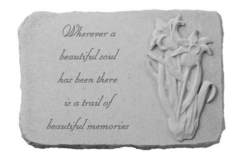 Wherever a beautiful soul...w/Iris Memorial Stone