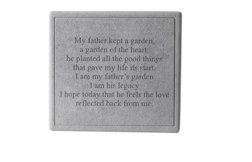 My father kept a garden...Square Memorial Marker