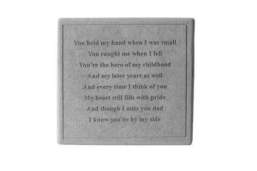 You held my hand...Square Memorial Marker