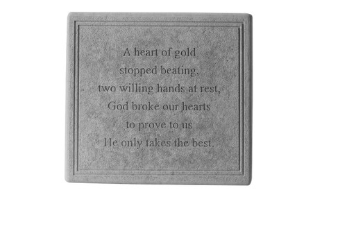 Heart of gold...Square Memorial Marker