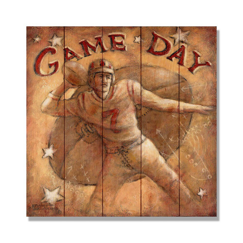 "Game Day Wall Art 17""x 17"""
