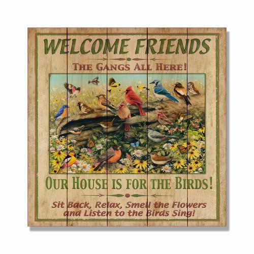 """Welcome Friends Wall Art 17"""" x 17"""""""