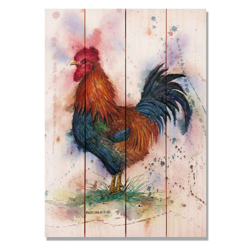 """Barnyard Rooster Wall Art 14"""" x 20"""""""