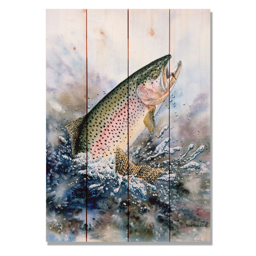 "Rainbow Trout Wall Art 14"" x 20"""