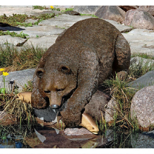 """Catch of the Day Bear Statue 17""""H"""