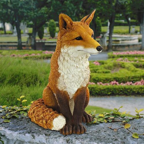 """Simon The Fox Garden Statue 18""""H"""